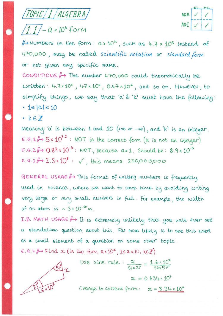 pg1 A&A HL - Topic 1 - Algebra Notes.jpg