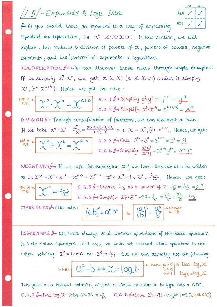 pg5 A&A HL - Topic 1 - Algebra Notes.jpg