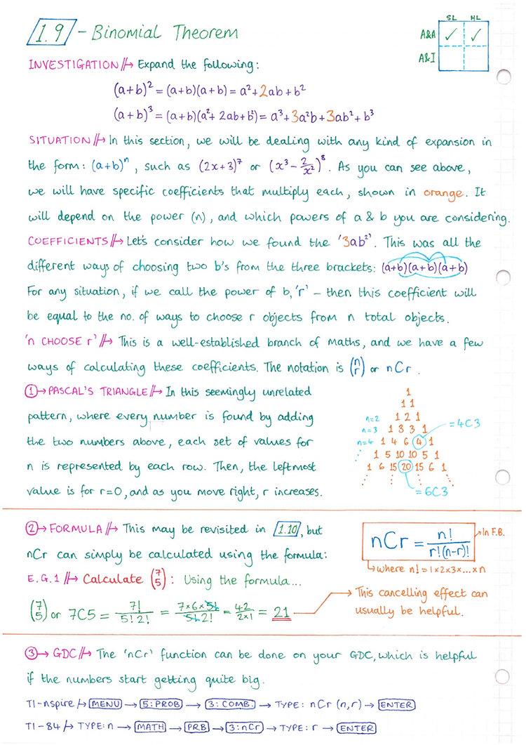 pg10 A&A HL - Topic 1 - Algebra Notes.jp
