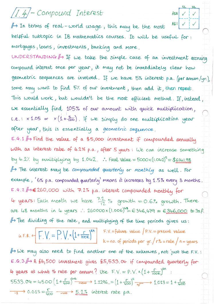 pg4 A&A HL - Topic 1 - Algebra Notes.jpg