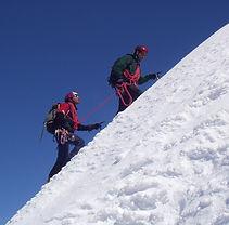 arrampicata su ghiaccio alta montagna