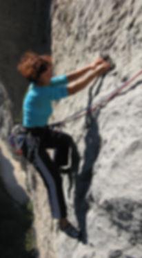 Laura arrampicata