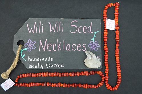 Wili Wili seed necklace