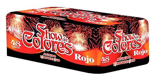 SHOW DE COLORES ROJO