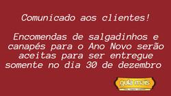 Comunicado ao cliente!