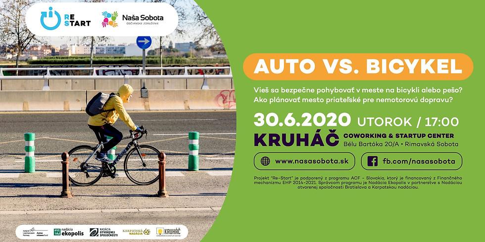 Auto vs bicykel
