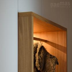 naemas Architekten - FOYER EBA - Lana - Detail Sitznische