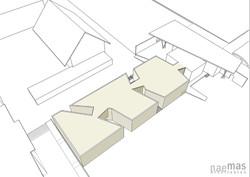 naemas Architekten_WETTBEWERB MENSA_Bruneck_Vogelperspektive