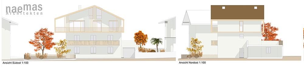 naemas Architekten - Haus Pi - Dorf Tirol - Ansichten SO