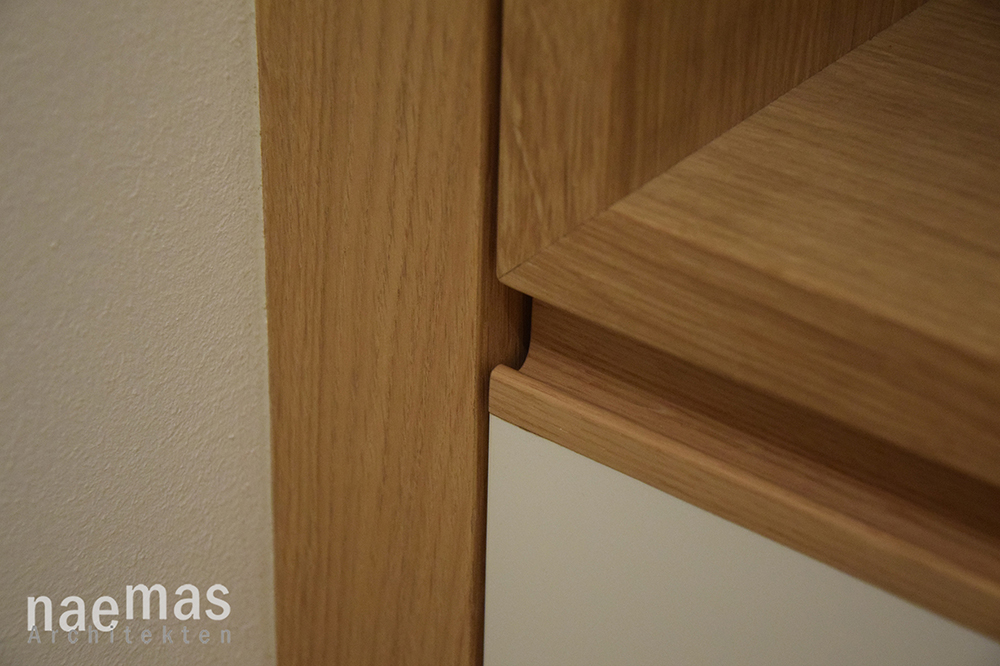 naemas Architekten - Garderobe Oakwhite - Meran - Detail