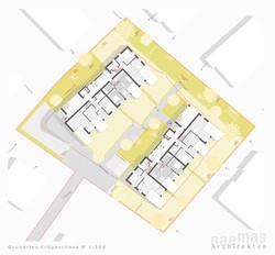 naemas Architekten - WETTBEWERB ALFIERI - Meran - Lageplan