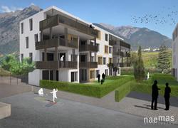 naemas Architekten - WETTBEWERB ALFIERI - Meran - Visualisierung