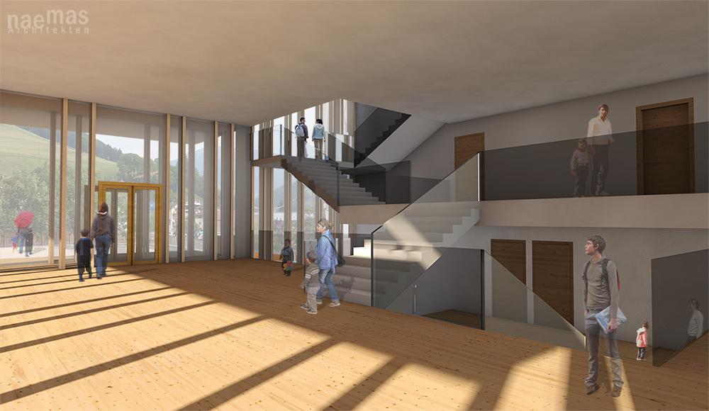 naemas Architekten - WETTBEWERB SCHULE - Foyer