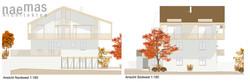 naemas Architekten - Haus Pi - Dorf Tirol - Ansichten NW
