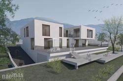 naemas Architekten - VILLA RUNGG - Girlan_Visualisierung