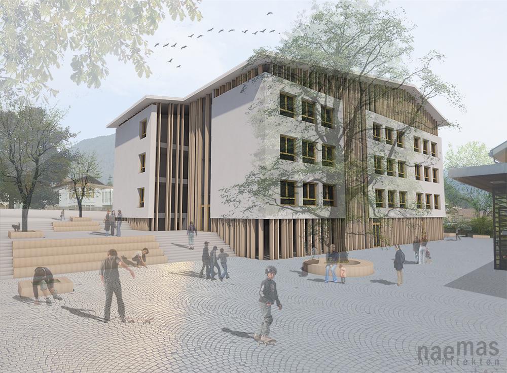 naemas Architekten - WETTBEWERB SCHULE - Sarnthein - Pausenhof
