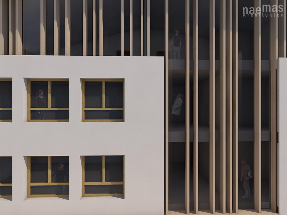 naemas Architekten - WETTBEWERB SCHULE - Sarnthein - Fassade