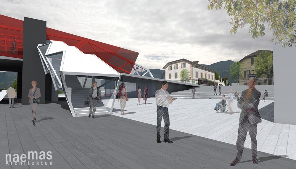 naemas Architekten - Intermodalzentrum - Sigmundskron - Platz