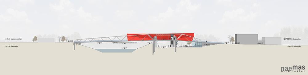 naemas Architekten - Intermodalzentrum - Sigmundskron - Schnitt