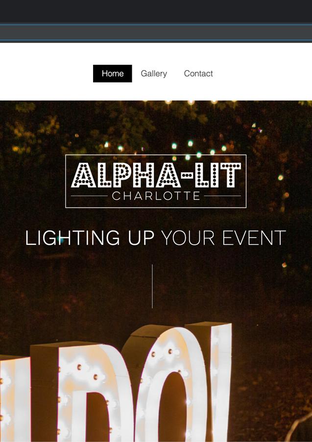 Alpha Lit Charlotte Website