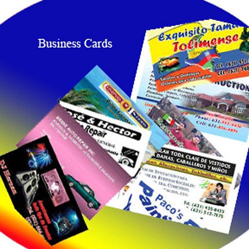 Business Cards - Tarjetas de presentacion