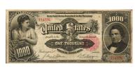 La historia del billete de US$1.000 que podría venderse en US$ 3 millones