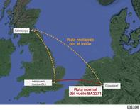 El vuelo de British Airways que aterrizó en Escocia en lugar de en Alemania por error