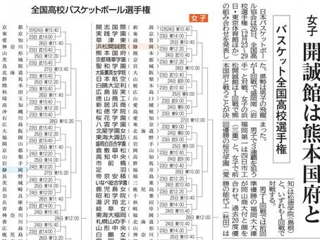 男子バスケット部 WINTER CUP2020 組み合わせ決定!!