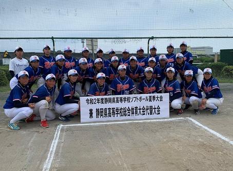 8月1日(土) 県総体代替大会 女子ソフトボール部 集合写真