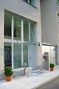 Glasvordach Warteck Invest Basel