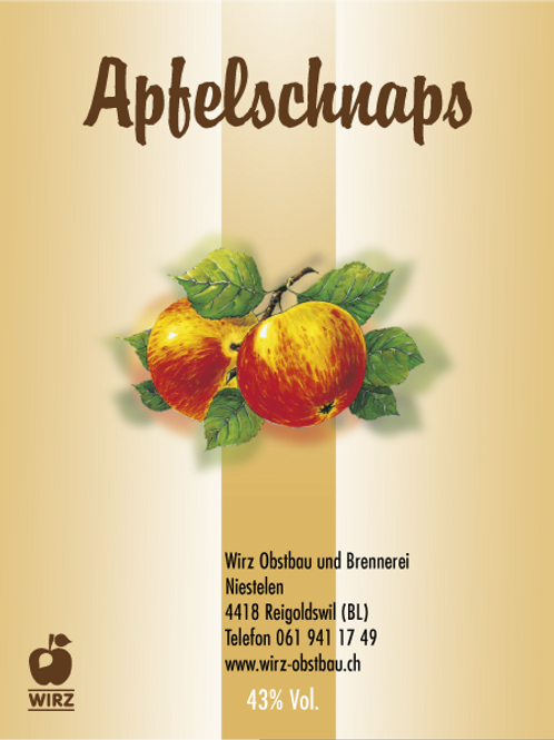 Apfelschnaps 1 Lt