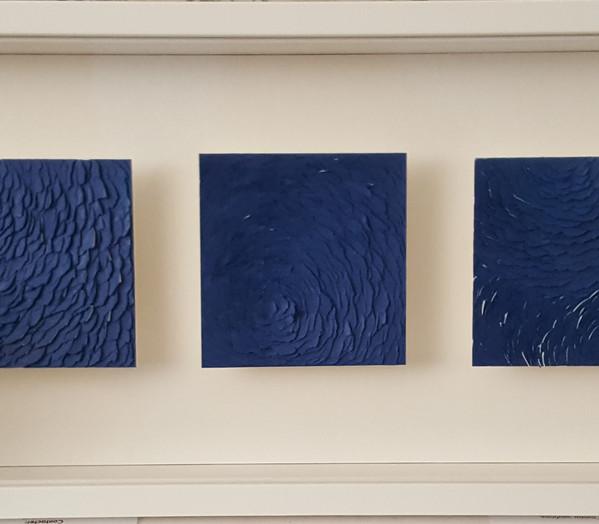 Triptique bleu
