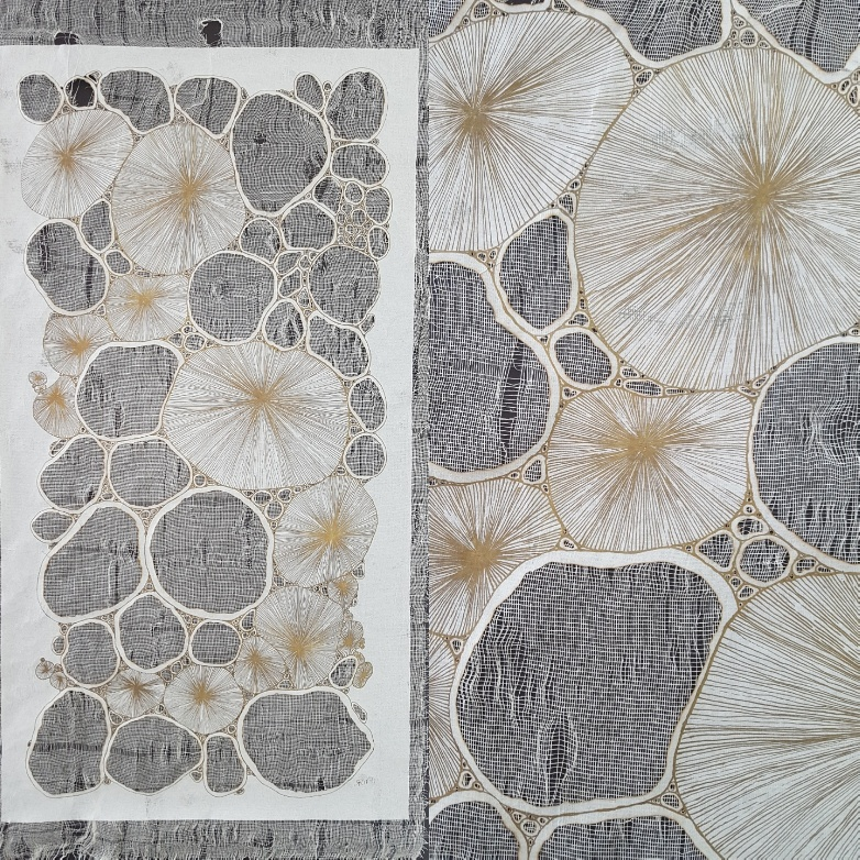 Tissu n°1 ( avec détail à droite)