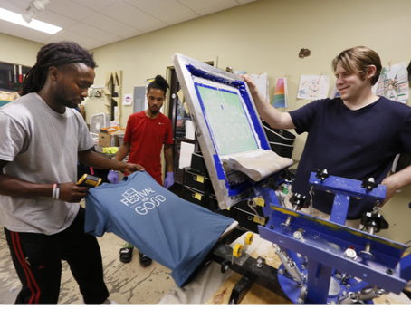 Local T-shirt printing business helps by employing young people in need