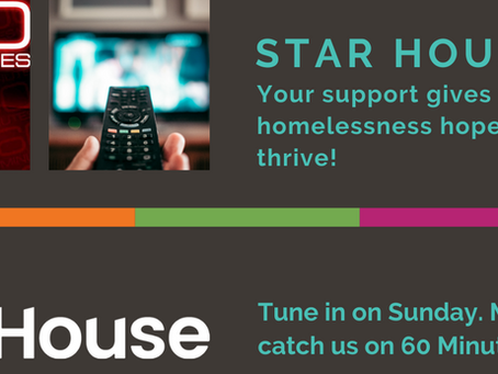 Catch Star House on 60 Minutes this Sunday!