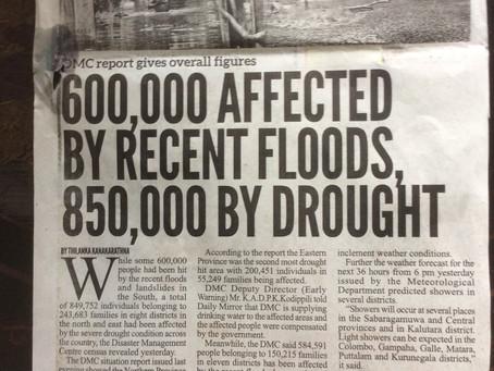 Spendenaufruf: Jahrhundert Überschwemmungen und Erdrutsche in Sri Lanka