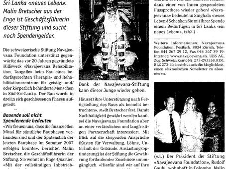 Navajeevana Foundation Zürich stucht Spenden