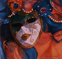 Mardi Gras Watercolor 18x18 1996