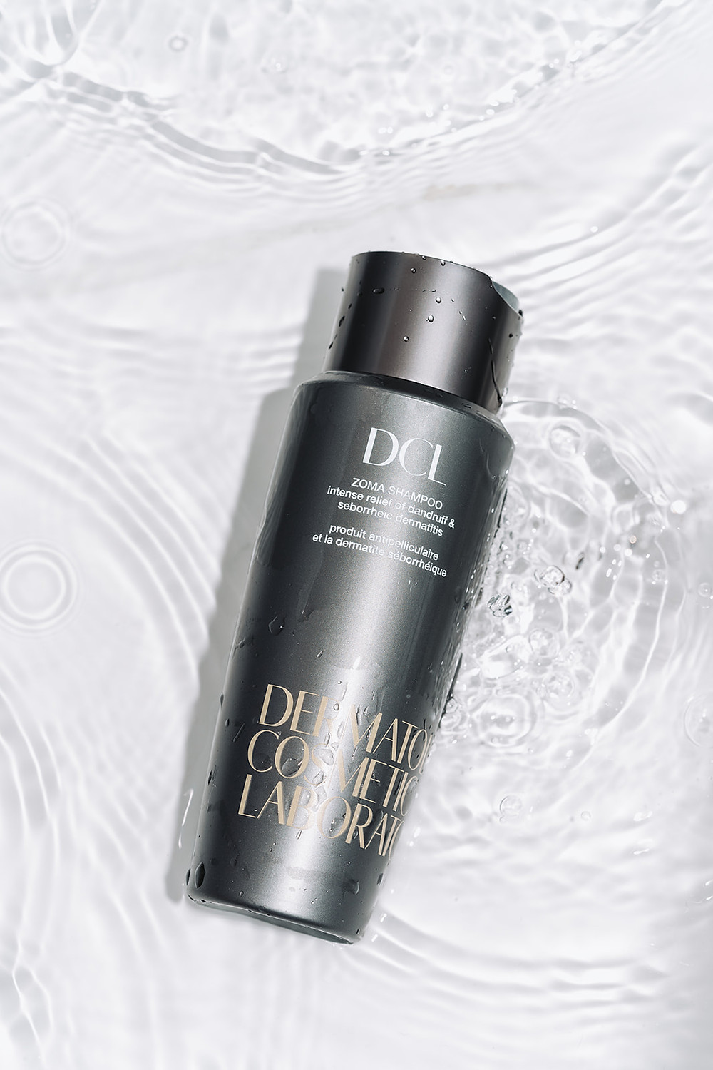 overview of skincare item as an example of using water in product photography