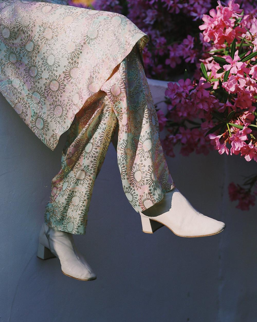 waist down shot of a woman wearing boots