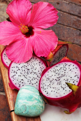 dragonfruit & fresh flower