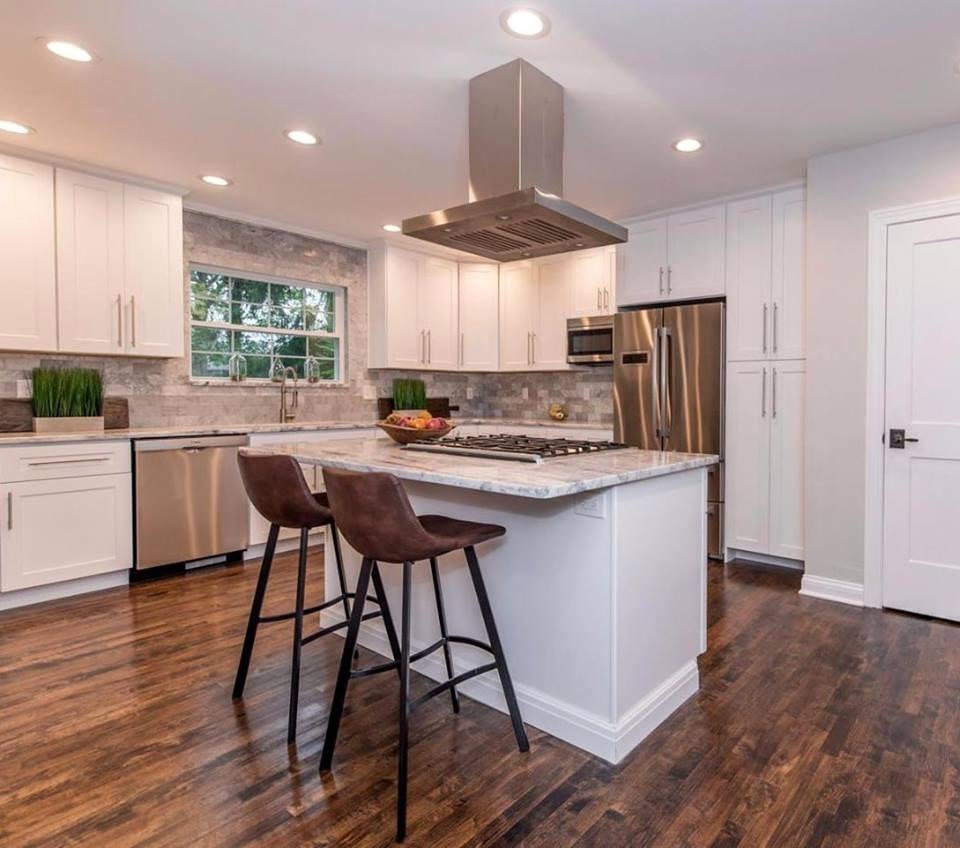 Modern kitchen staged for sale