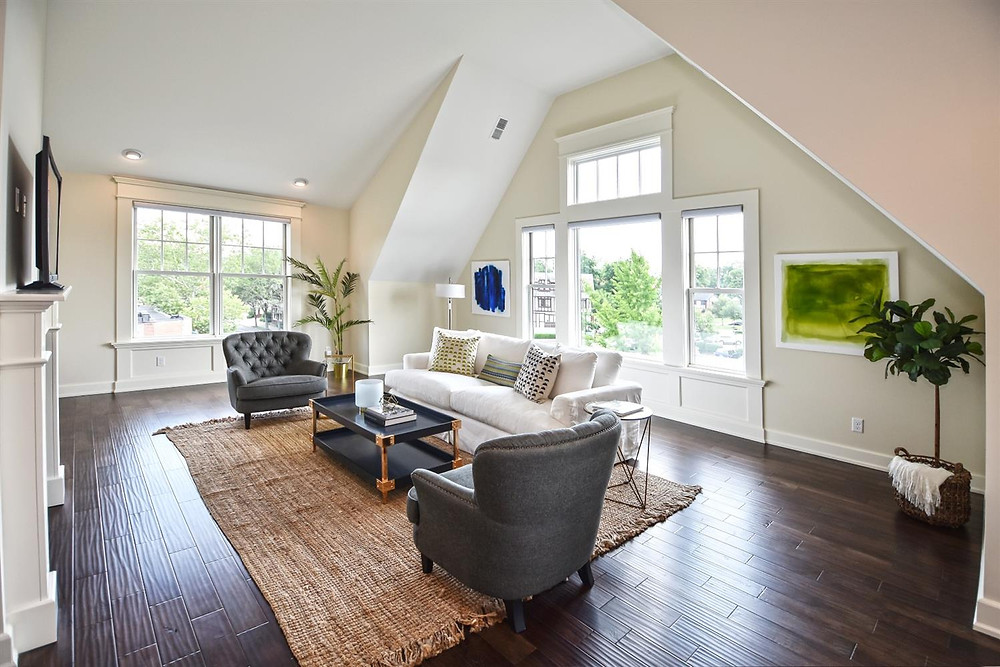 an after image of a staged living room taken by a professional real estate photographer