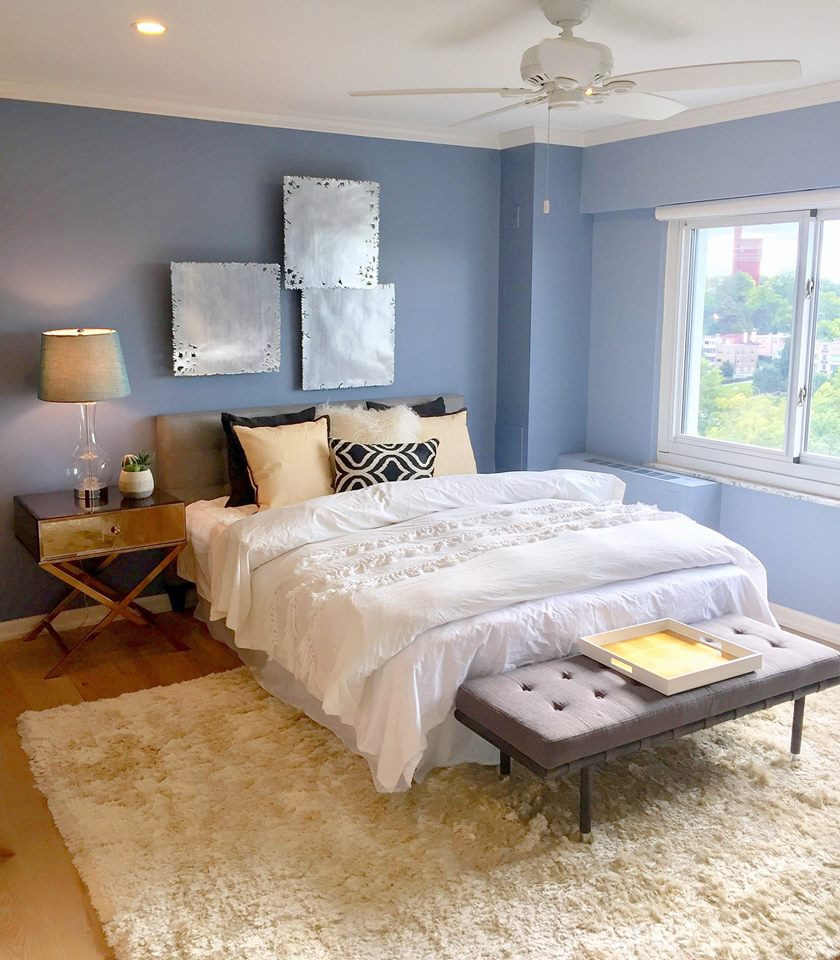 image of a staged bedroom with soft textures for a relaxed feel