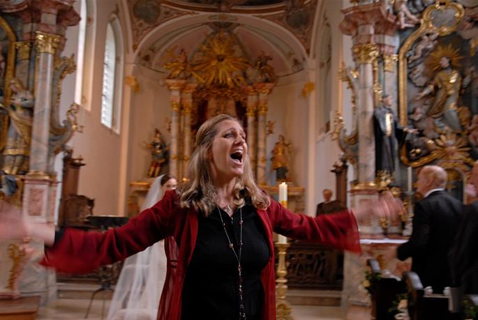 Bianca Trauung Hochzeitssängerin Gesang Gospel Kirche live