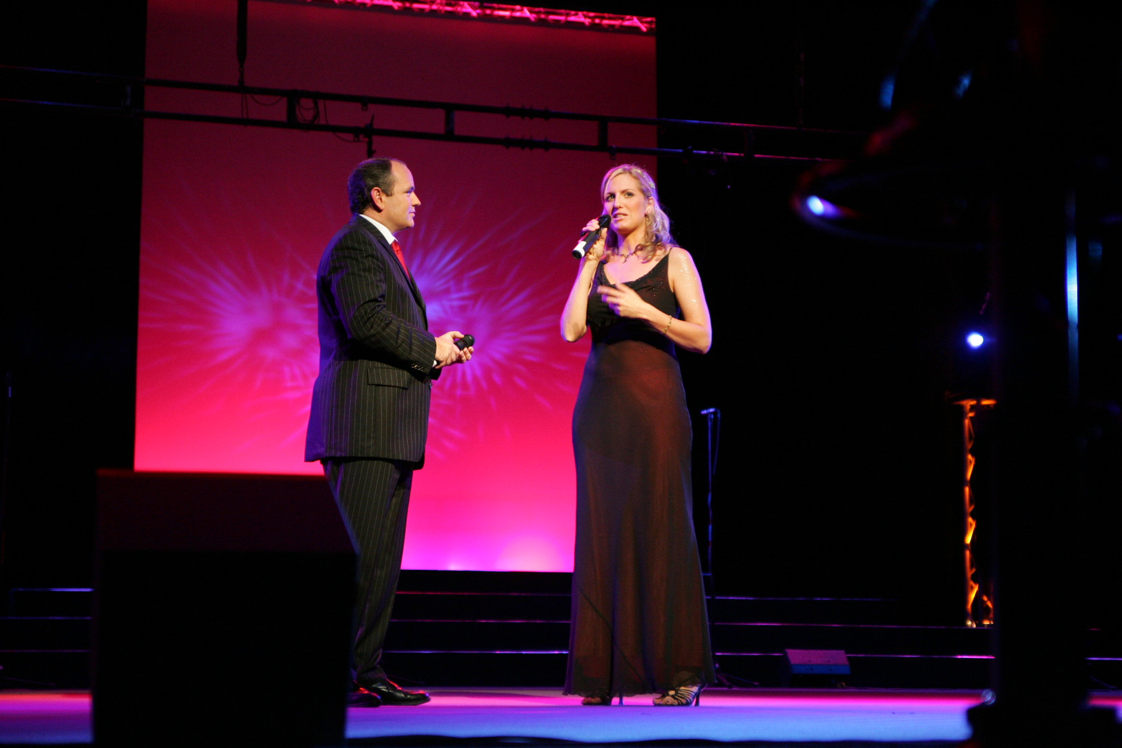 Bianca Gospelaward mit RTL Moderator Wolfram Kons