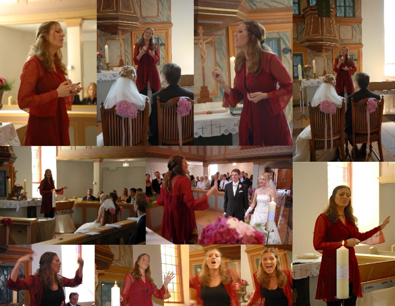 Neckermann Weddingstyle Fotocollage Gospel Sologesang pur