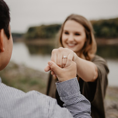Rory takes the hand of his new fiance and shows off her beautiful new engagement ring.