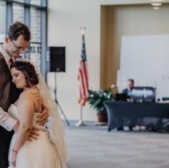 First dance as husband and wife. Cedar Rapids Iowa
