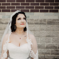 Classic bridal portrait of Jordan wearing a beautiful tiara and veil.